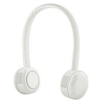 古姿(Guzi)USB无叶小风扇手持便携随身充电学生宿舍迷你电风扇儿童挂脖风扇-白色