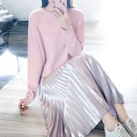 2018初秋新款毛衣加配裙子套装秋冬两件套时尚甜美可爱时髦气质 显瘦套裙