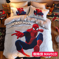旗舰 2019网红新款 儿童四件套纯棉男孩全棉床单被套床笠款卡通床上用品三件套