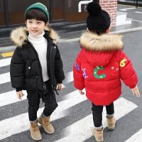儿童棉衣男童羽绒小孩中长款宝宝棉袄外套潮