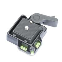 QR-40快装板单反相机三脚架独脚架云台配件1/4和3/8孔快拆座 夹座