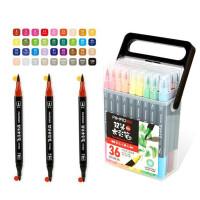 爱好可洗水彩笔 三角杆/六角杆 涂鸦笔 绘画笔 双头/单头彩色笔 涂色笔 填色笔