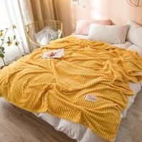 毛毯夏季空调小毯子单人牛奶绒冬季午睡盖毯薄款珊瑚绒毛巾被子 200X230CM毛毯 绒毛细腻 透气亲肤