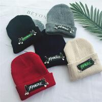 帽子男韩版潮冬季加绒加厚针织帽 保暖套头帽子女 毛线帽秋冬季
