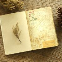 创意欧式复古笔记本子日记本文艺彩页插画记事本手绘学生厚手账本