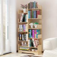 老睢坊 书架落地简约现代简易客厅树形置物架儿童学生实木组合创意小书柜卧室落地架子