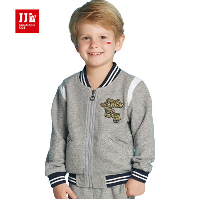 jjlkids季季乐2017年春季新款男童卫衣中小童儿童开衫外套BQW63066专柜同款