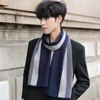羊毛围巾男女两用百搭秋冬季学生格子披肩韩版加厚长款围脖冬天