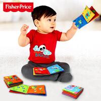 费雪婴儿早教布书套装F0812 数字颜色认知动物世界子互动学习书