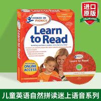 正版 儿童英语自然拼读迷上语音系列第一级 英文原版教材 Hooked on Phonics Learn to Read