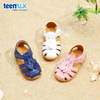 【159元任选2双】天美意teenmix童鞋夏季宝宝凉鞋小女童可爱鞋子男童包头沙滩鞋(0-4岁可选)DX7088