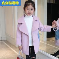么么哒噜噜 2017新款韩版洋气毛呢冬装冬季呢子大衣外套