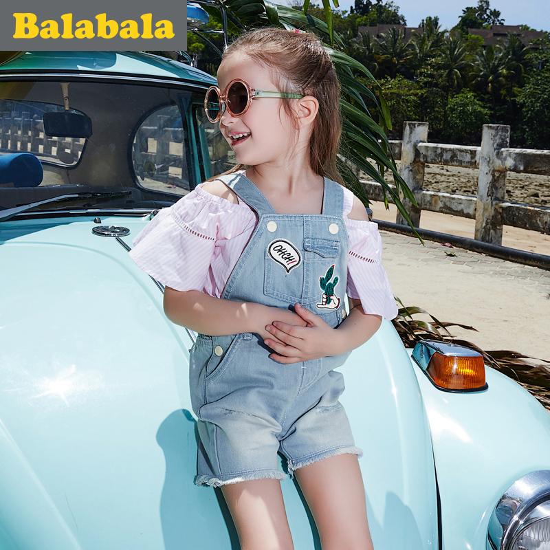 巴拉巴拉童装女童2017夏季新款中大童小童裙子儿童中裤休闲女