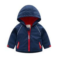 男童外套儿童上衣童装宝宝秋装连帽防风衣冲锋衣