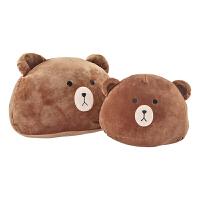 西哈小熊猪头熊头卡通沙发午睡靠枕汽车靠垫腰枕爱毛绒抱枕*