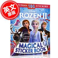 现货 冰雪奇缘2 魔法贴纸书 英文原版 迪斯尼同名电影周边书 儿童趣味图书 Disney Frozen 2 Magical Sticker Book