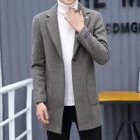 男士风衣中长款2018新款秋冬季韩版潮流呢子大衣休闲毛呢冬装外套