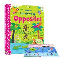 Usborne Lift The Flap Opposites 学反义词 学会对比 互动翻翻书 幼儿英语启蒙 低幼早教