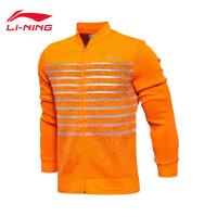 李宁卫衣男士2017新款羽毛球系列开衫长袖外套运动服AWDM281