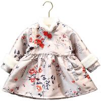 女童汉服中国风旗袍连衣裙儿童唐装冬喜庆宝宝装