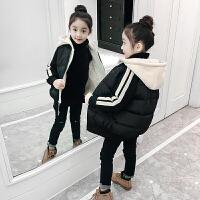 女童棉衣棉袄中大童女孩短款面包服外套儿童