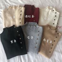 内搭毛衣女新款黑色打底衫上衣秋冬韩版半高领套头修身针织衫