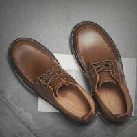 冬季鞋子马丁鞋男大头皮鞋低帮英伦工装鞋休闲鞋 38 男款