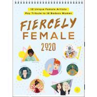 英文原版 女性榜样2020年挂历 12位女插画师创作 进口日历 女性励志 礼品书 女权主义 Fiercely Fema