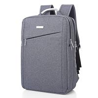 旅行王子商务背包双肩包男士旅行电脑双肩包15.6寸14寸韩版书包潮 灰色 斜款