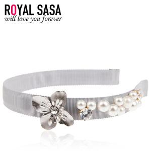 皇家莎莎发箍民族风人造珍珠发饰手工波西米亚窄头箍发卡子盘发头饰品