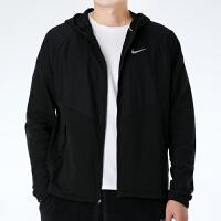 幸运叶子 Nike耐克连帽夹克男春季新款拼接运动服休闲外套CV2239-010