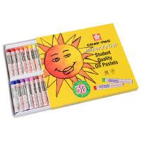 樱花牌油画棒36色樱花油画棒 蜡笔炫彩棒 学生儿童开学绘画软蜡笔