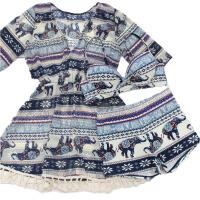 比基尼三件套分体平角泳衣雪纺流苏罩衫波西米亚民族风泳装