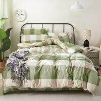 床上用品裸睡水洗棉三件套 四件套床单被套1.5/1.8床上用品