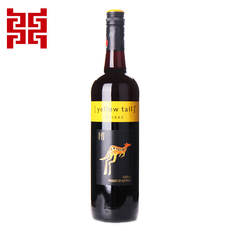 澳大利亚进口红酒 黄尾袋鼠(Yellow Tail)西拉红葡萄酒 750ml进口洋酒 正品保障