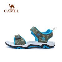 camel骆驼夏季儿童魔术贴露趾运动凉鞋男童户外沙滩鞋