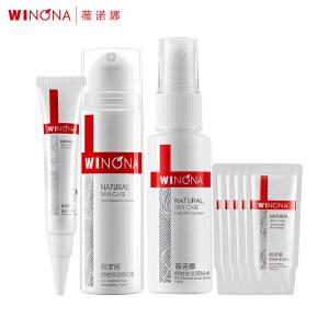 薇诺娜WINONA 舒敏保湿修红护理体验套装 (修红霜+洁面乳+润肤水+防晒乳)