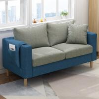 【限时直降3折】北欧沙发床单人客厅卧室小户型多功能懒人沙发简约现代实木腿布艺