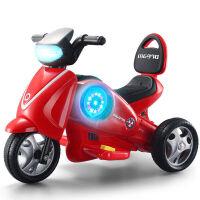锋达 儿童电动太空摩托车 宝宝可坐人可骑三轮车带灯光音乐小孩电瓶车