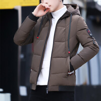 2018新款冬季棉衣男士外套韩版棉袄男装潮流冬天衣服加厚羽绒 1858咖啡色 M