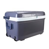 慈百佳(CIBAIJIA) 45L车载冰箱车家两用迷你便携大容量汽车冷暖箱 渔具专用 灰 675x410x400mm