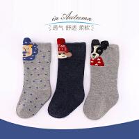 婴儿袜子秋冬长筒袜纯棉松中筒袜高筒袜新生儿长袜子