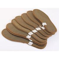 竹炭鞋垫干爽吸汗透气皮鞋运动鞋男女通用四季鞋垫3双 深卡其布色