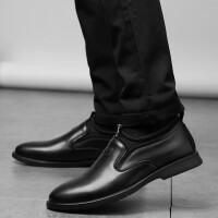 皮鞋男夏季新品纯色正装皮鞋休闲鞋英伦风商务鞋男士套脚懒人鞋豆豆鞋