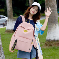 清新高中学生书包初中生女双肩包大容量简约旅行背包