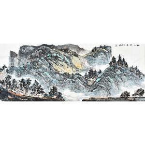 中国工艺美术家协会理事黎明小六尺花鸟画gs01081