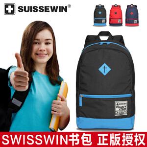 【SUISSEWIN旗舰店 支持礼品卡支付】学生书包中学生背包双肩包电脑包大容量休闲旅行包男女包包
