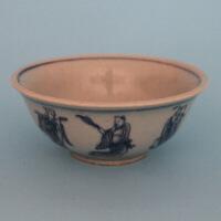 明青花八仙碗古董仿古瓷器古玩收藏家居摆设 高5.5CM