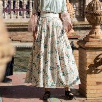 生活在左2019春夏季新品女装纯棉文艺半身裙宽松百搭显瘦半身长裙