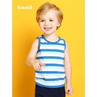 【3件3折:41.7】安奈儿童装男童夏季新款两件装圆领背心TB822002